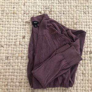 Mossimo cardigan purple w/ fabric covered buttons